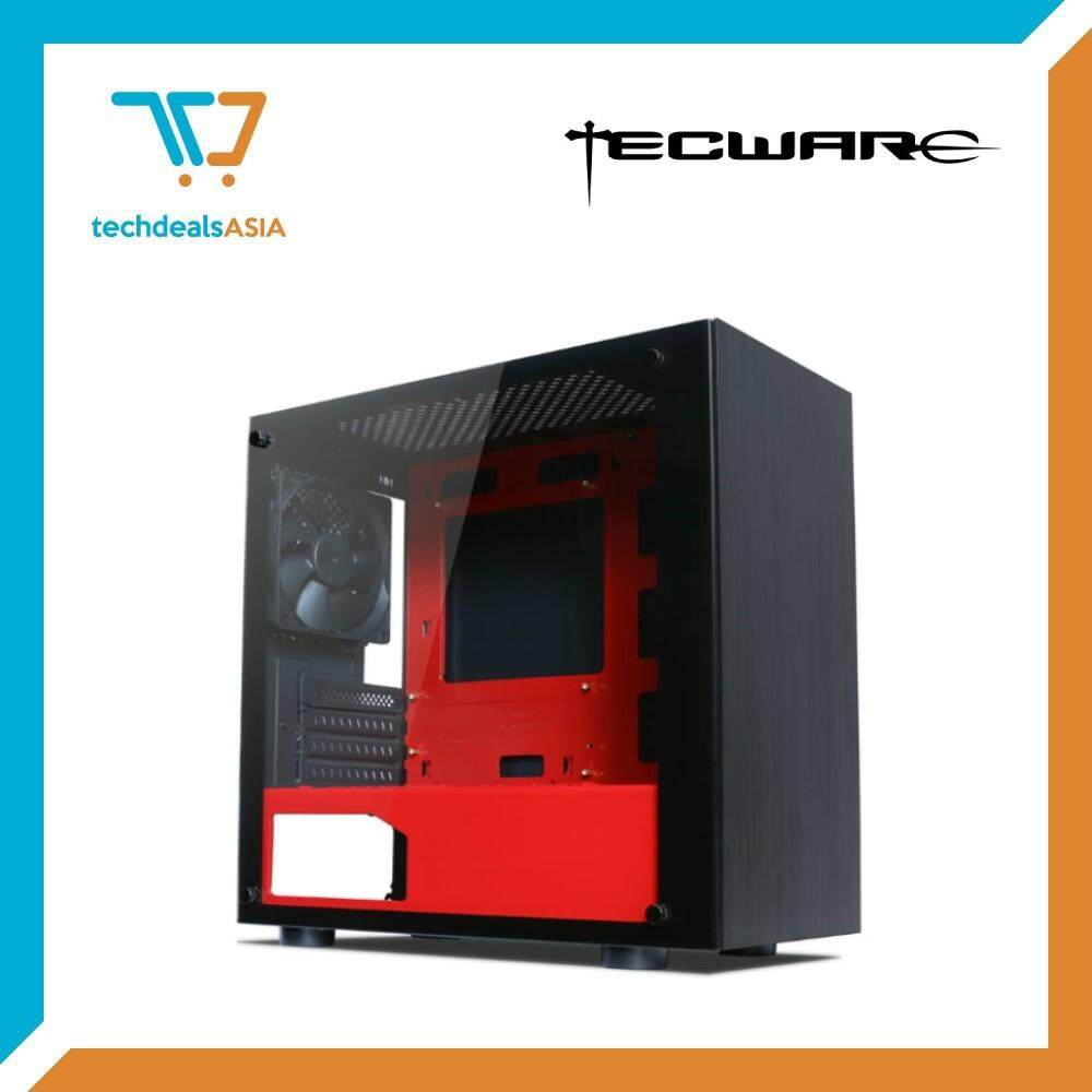 Tecware Nexus M mATX Case Tempered Glass  [Red/Black] Malaysia
