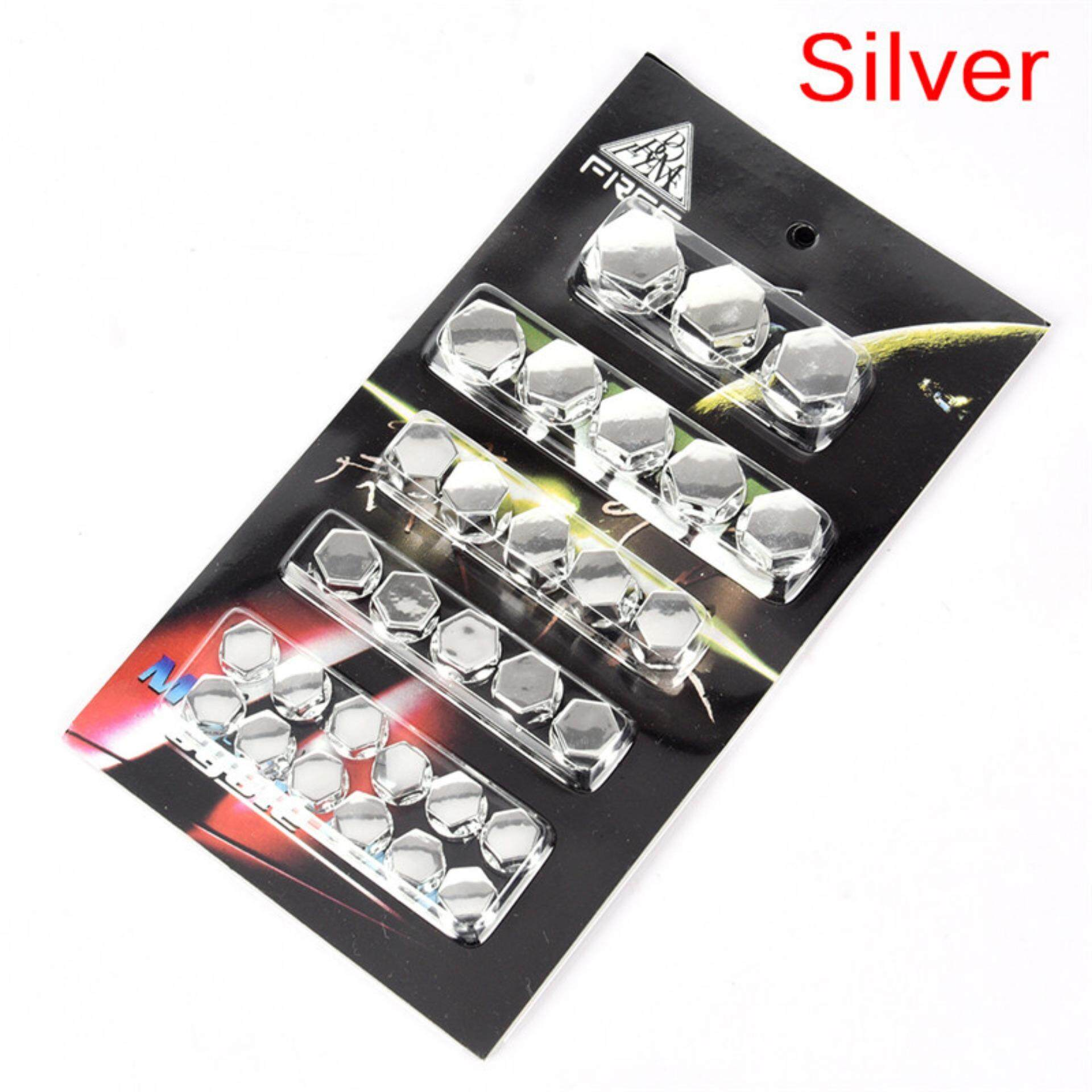 Motorcycle Screw Nut Bolt Cap Cover Decoration Centro Motorbike Ornament Fashion Silver By Aokago.