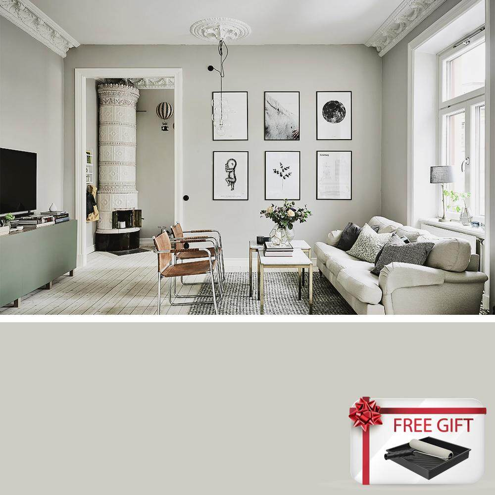 Seamaster Paint Wall Tex Plus 7700 Interior Emulsion Wall Paint   10308  (Light Grey)