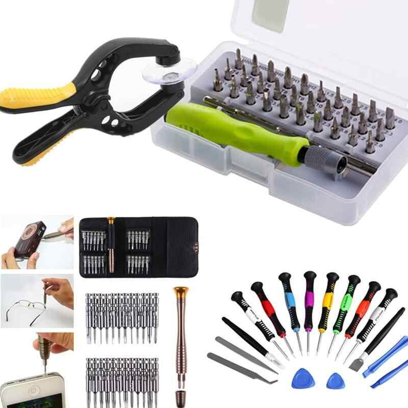 LISSNG Precision 32 In 1 Electronic Torx Magnetic Screwdriver Tool Set Multifunctional Hand Tool Kit Opening Repair Phone Tools Screwdriver Pry Disassemble Tool Set Suitable: Phone, PC, Watch, Camera and precision electronics and household appliances, etc