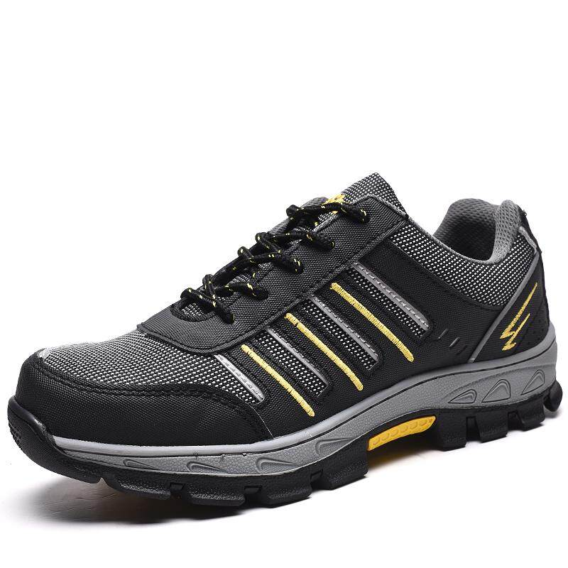 Safety Shoes Men And Women Safety Shoes Steel Head Smashing Stab-Resistant Solid Breathable Deodorizing Wear-Resistant Safety Shoes