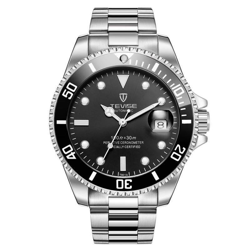 TEVISE T801 Water Ghost Men Quartz Calendar Pointer Steel Strip Waterproof Business Wrist Watch Top Brand Luxury Casual Waterproof Business Watch Casual Watch Sports Watch Wristwatches Business Watch Malaysia