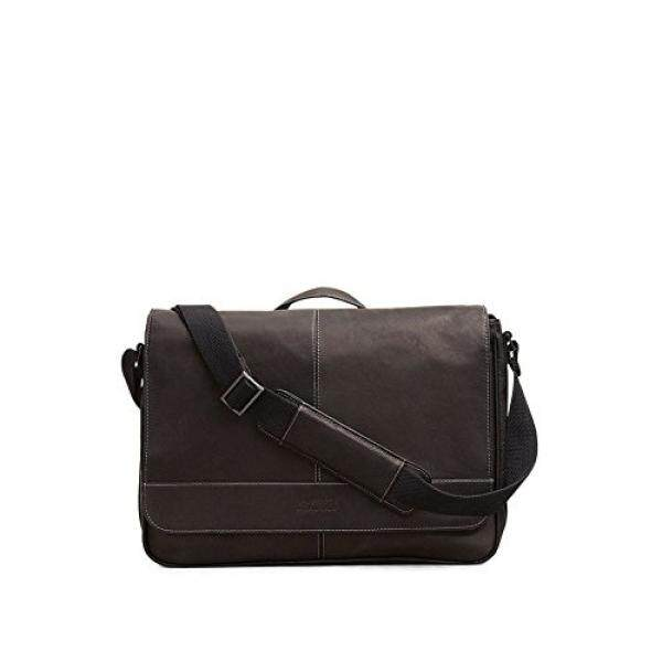 94ce98d67 Kenneth Cole Reaction Risky Business Colombian Leather Flapover Cross Body Messenger  Bag, Black, One
