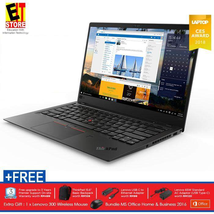 LENOVO THINKPAD X1 CARBON (6TH GEN) 20KHS04Y00 (I7-8550U/16GB/512GB SSD/14 WQHD/INTEL/W10/3YRS) + MS OFFICE Malaysia