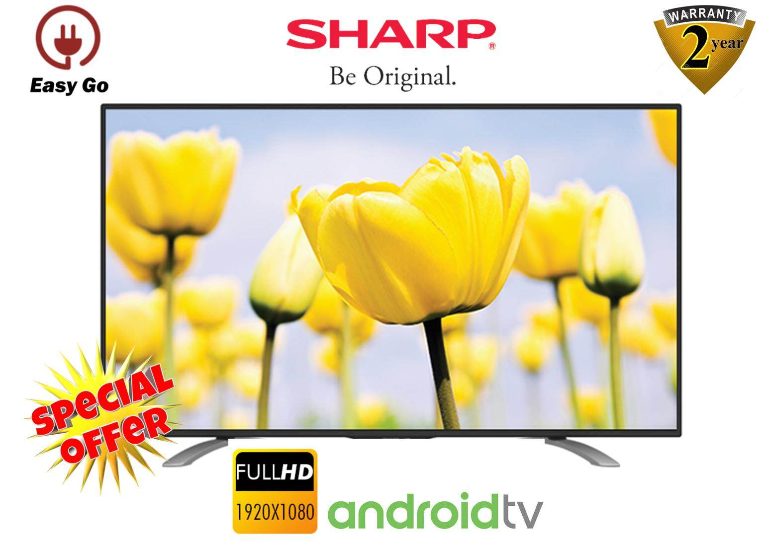 Sharp Led Televisions Price In Malaysia Best Aquos Tv 40 Inch Lc 40sa5100i Usb Movie 50 Full Hd Smart Android Lc50le580x