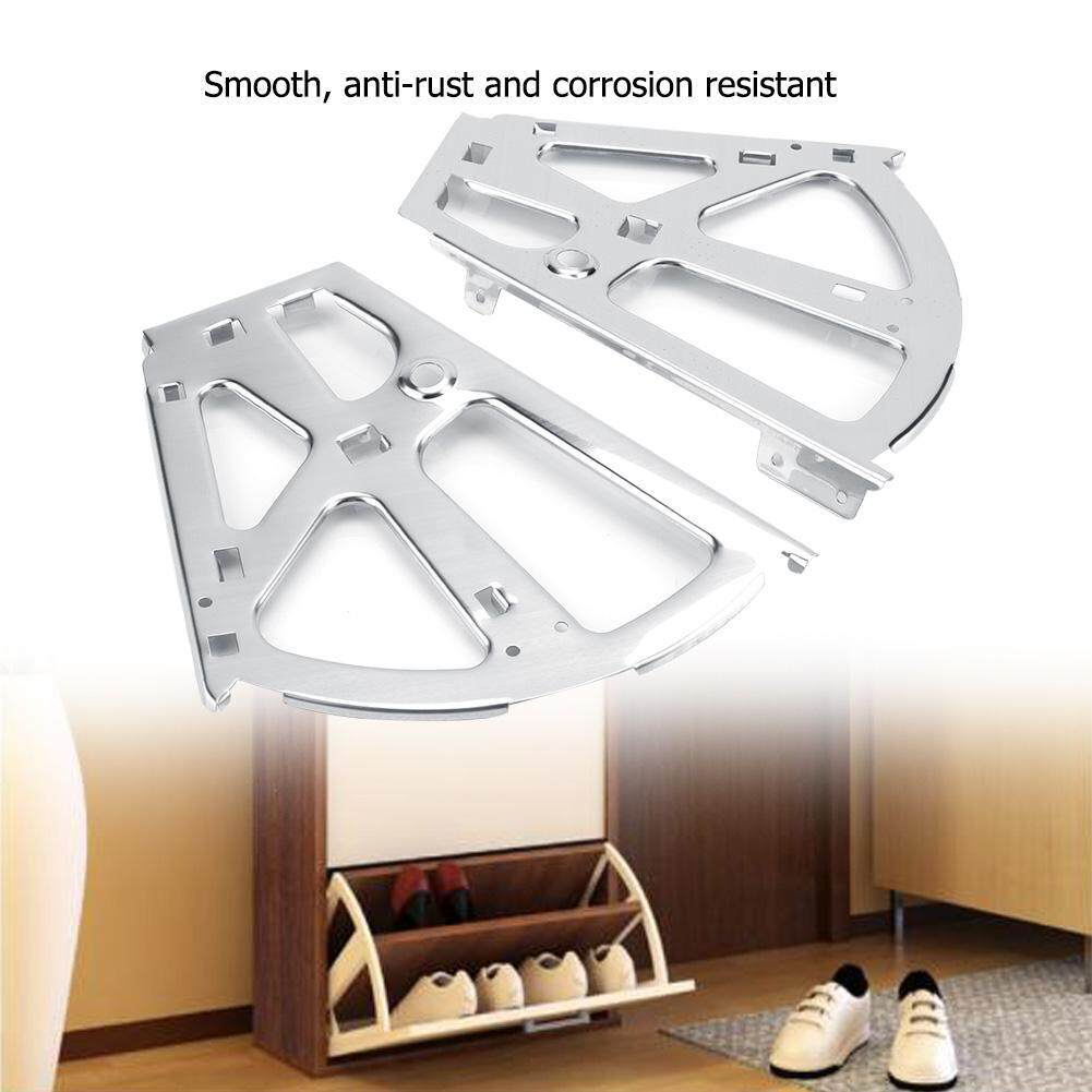 2Pcs Stainless Steel Shoes Drawer Cabinet Hinges Turing Rack Replacement Fittings(2 Layers)