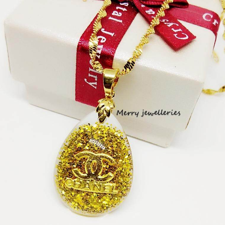 Merry Jewelleries 999 Pendant Blink Chane (gold) By Merry Jewelleries.