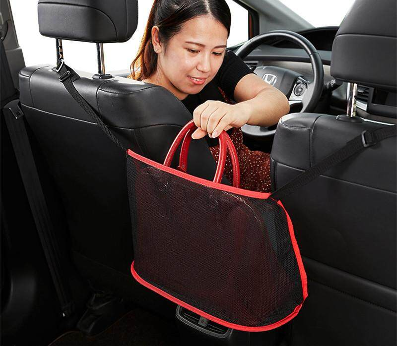 New Car Two Seat Space Storage Net Bag Vehicle Mounted Screen Hanging Car Storage Bag By Lotyy Store.