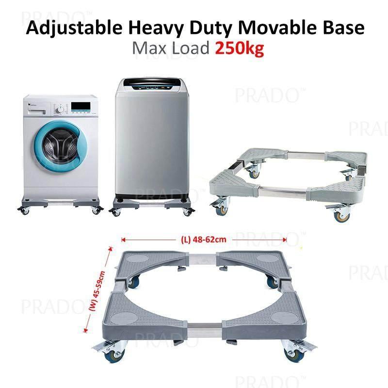 PRADO Malaysia Max Load 250kg Adjustable Heavy Duty Movable Wheel Special  Base for Washing Machine and Fridge Refrigerator