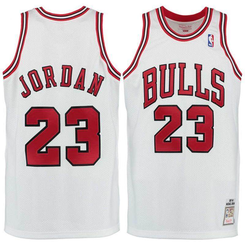 29ab4266969 Nike Original MEN Chicago Bulls Michael Jordan 23 1997-98 White Basketball  Jersey S