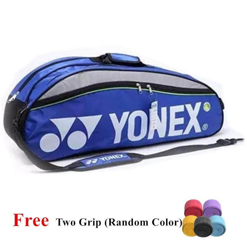 9332 Badminton Bag Double Zips Bag with Shoes Compartment + 2 Main Packets 2 Main Packets