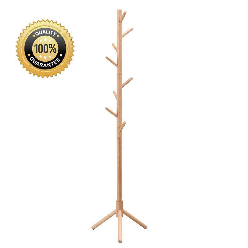Superb Quality Extra Hard Creative Furniture Solid Wood Hangers Floor Coat