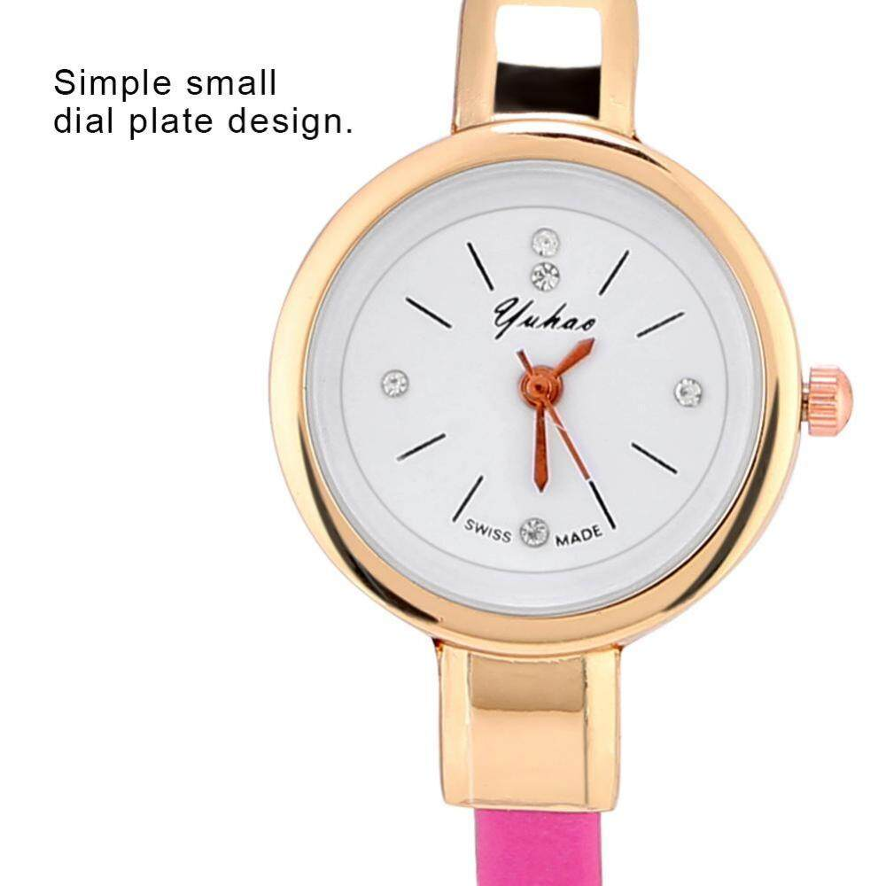 5 Colors 1pc Exquisite Women Analog Quartz Watches PU Strap Small Round Dial Wristwatch Malaysia