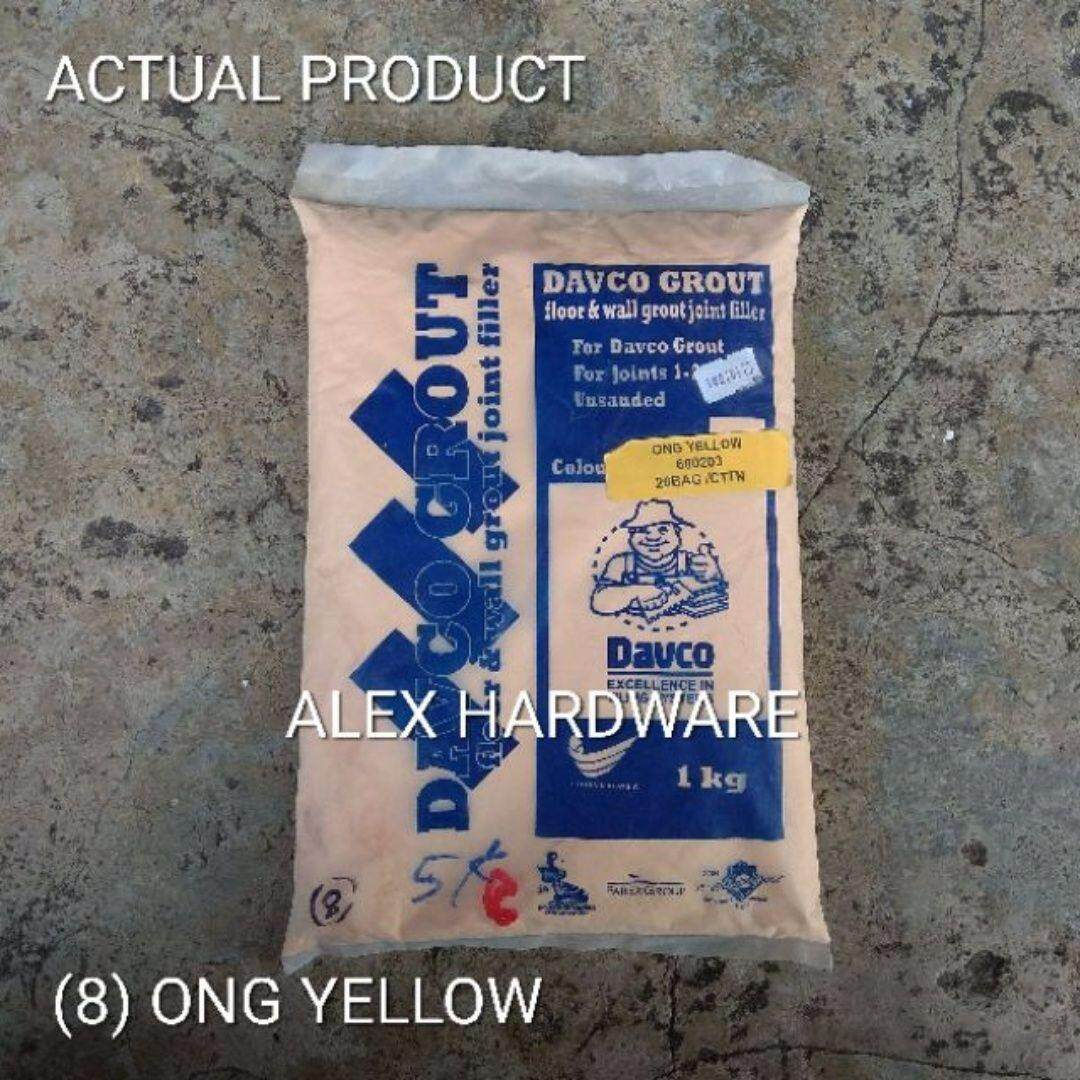 1KG Ong Yellow - Color Cement Grout; Simen warna kuning; 颜色洋灰