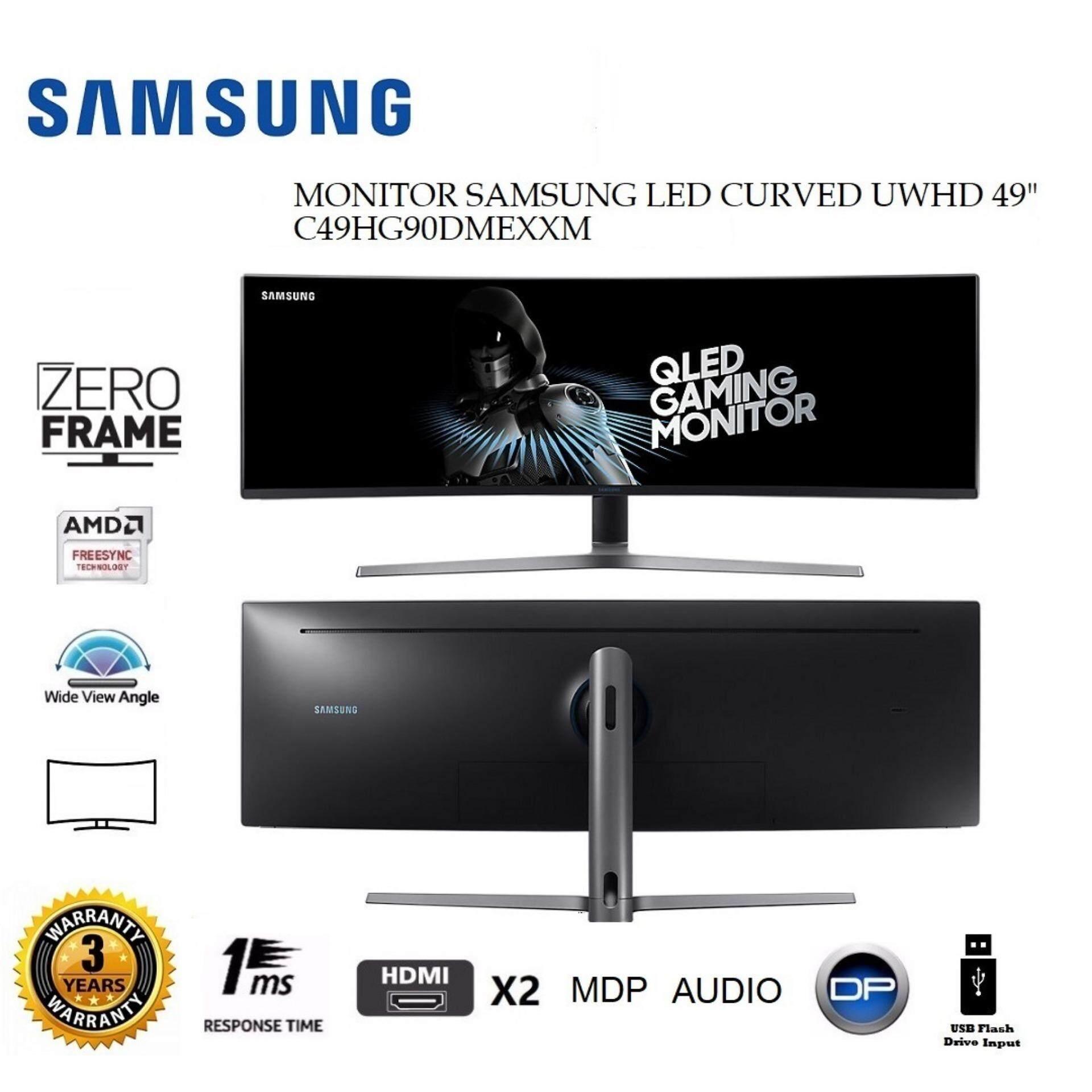 GENUINE SAMSUNG LED CURVED UWHD 49  C49HG90DMEXXM LCD MONITOR (1MS/HDMI*2/DP/MDP/USB/AUDIO) BLACK Malaysia