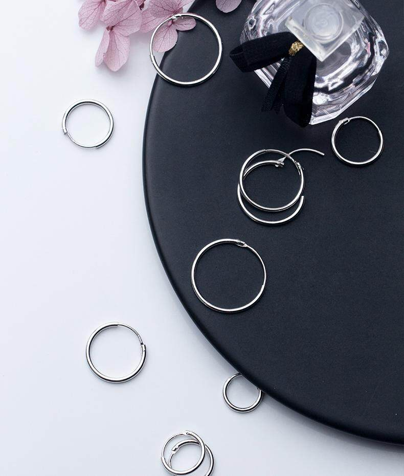 7a2817788 Specifications of MloveAcc Women 925 Sterling Silver Hoop Earring Round  Circle Loop Gifts Simple Silver Hoop Earring Brincos de Prata
