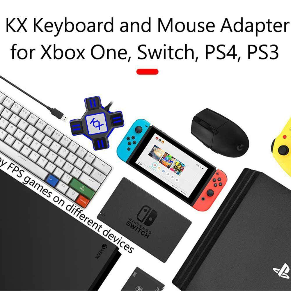 OutFlety KX USB Game Controller Converter Keyboard and Mouse Adapter,  Sensitivity and Accuracy Tuner for Switch/Xbox / PS4 / PS3