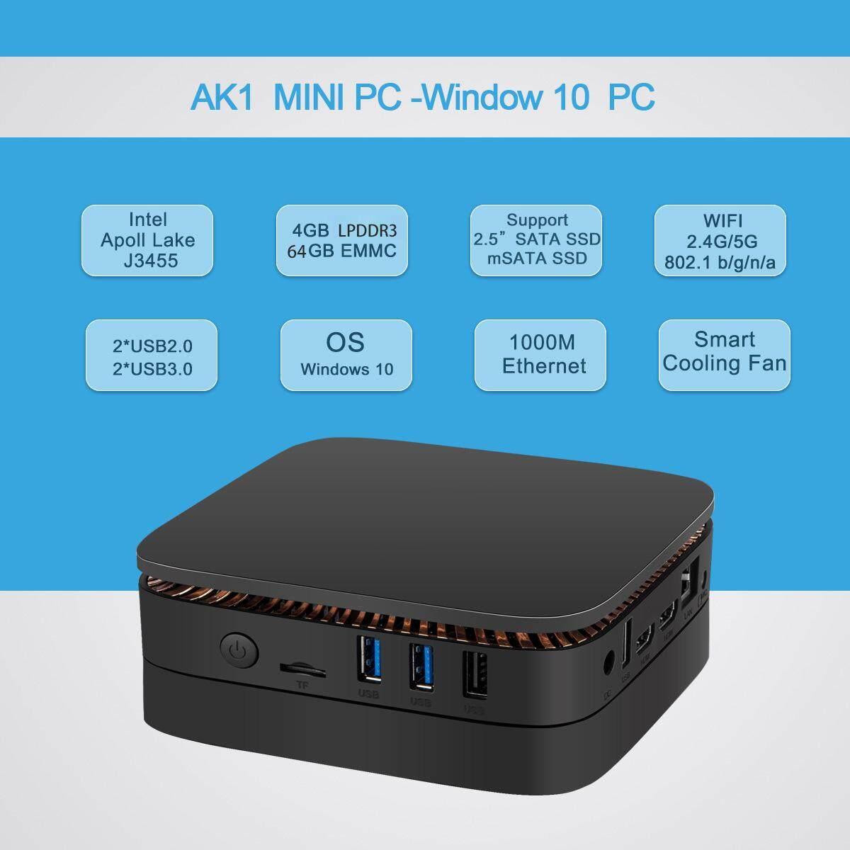 Mini PC Windows 10 Intel Celeron Apollo Lake J3455 /4GB DDR3L/64GB  EMMC/Expansion Hard Disk/Gigabit Ethernet/ 2 HDMI Mini Computer Philippines