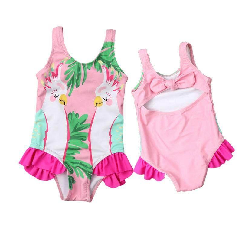 354009df408727 Kids Baby Girls Parrots Bikini Swimwear Swimsuit Bathing Suit ...
