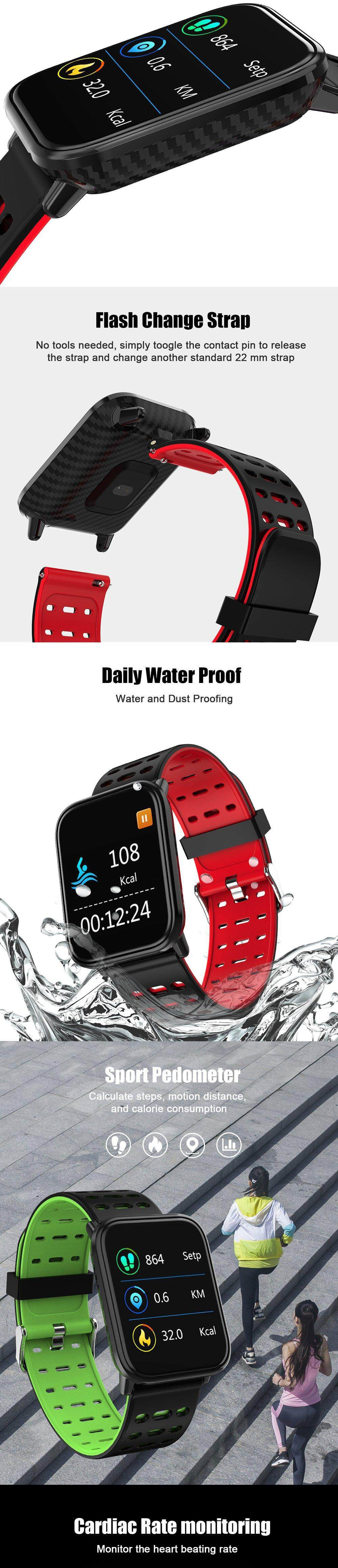 2019 New Smart Watch Fitness Tracke Band IP68 Waterproof Smartwatch Men  Women Clock for iPhone IOS Xiaomi Android Phone