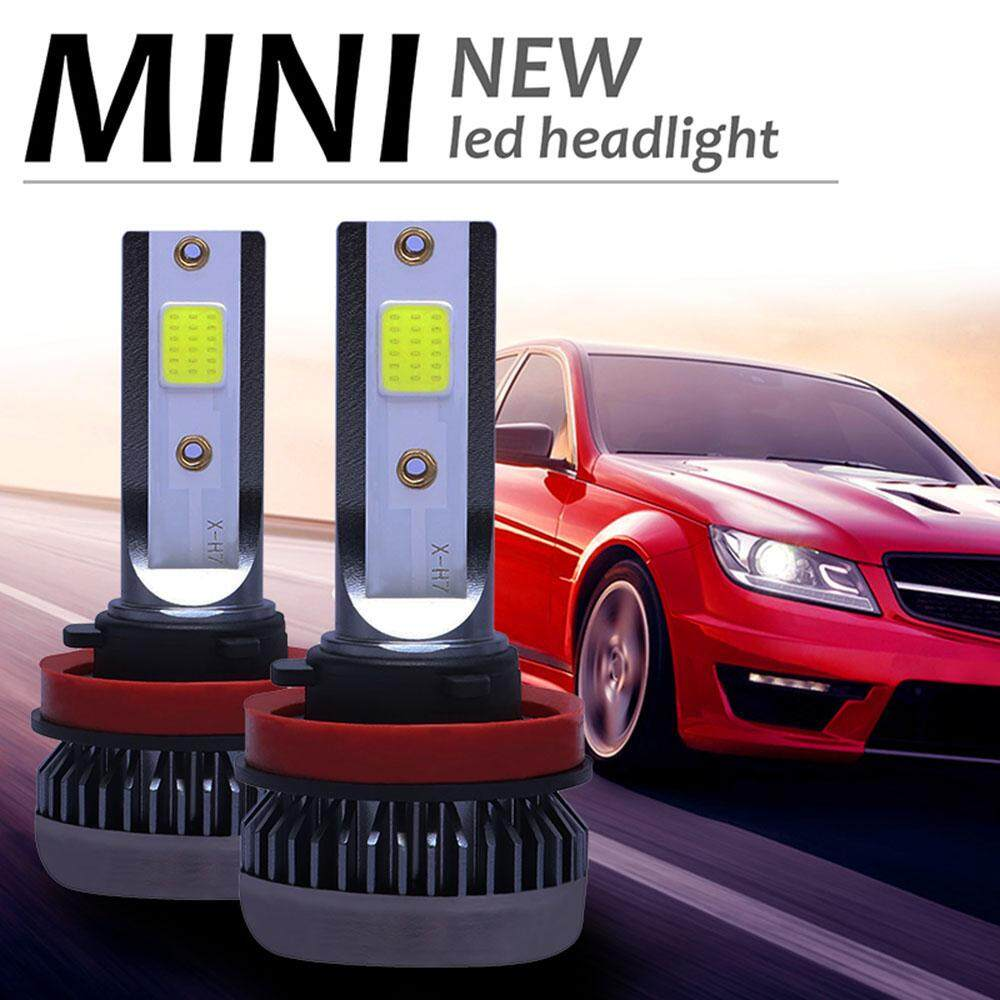 2PCS H11 COB LED Headlight Kit Bulb Total 120W 26000LM High or Low Beam 6000K AM