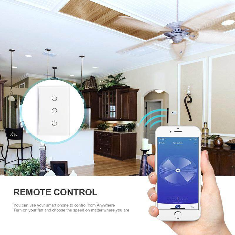 Bumblebaa Wifi Smart Fan Controller Wall Switch Touch Panel for Alexa Voice  Control European Regulation Specification:Wifi fan switch Good value for