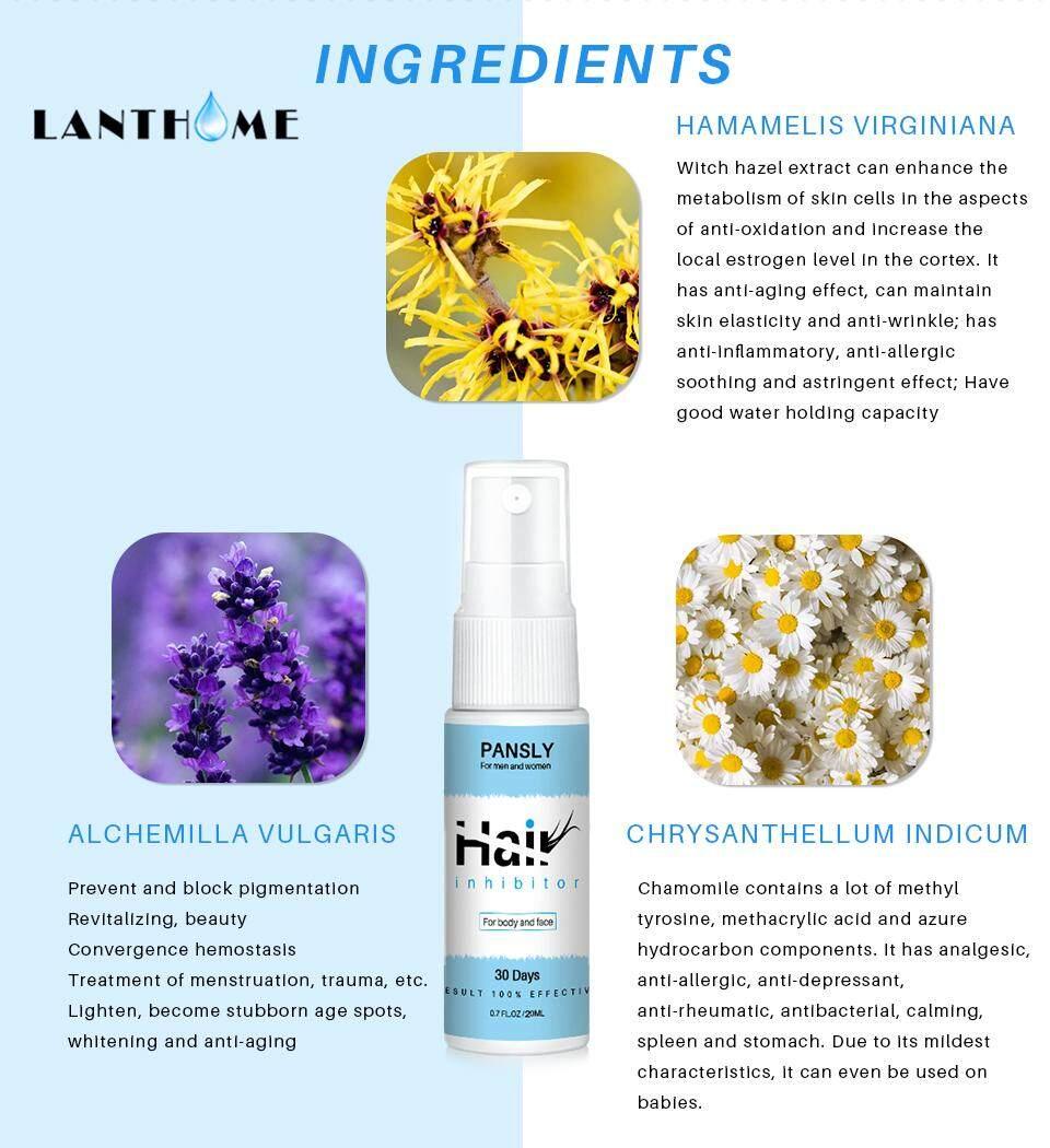 Organic Herbal Permanent Hair Growth Inhibitor Repair Nourish Smooth Body  Hair Removal Spray For Private Parts Leg Facial Hair