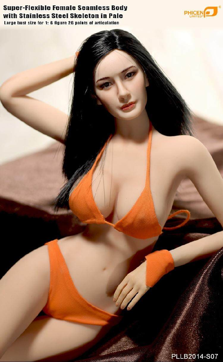 "1//6 Female Flexible Body Figure Doll Model Big Bust 12/"" Girl Seamless Action Toy"