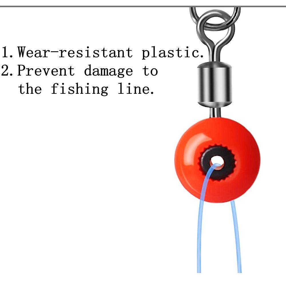 50PCS Space Beans Fishing Connector Float Rolling Swivel Fishing