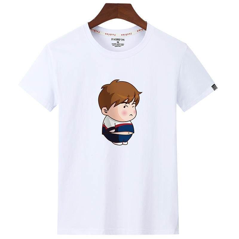 86089d7e2 T-shirts Men T Shirts Fashion T Shirt O-Neck Cotton Printing Mens Tops Tees  Plus Size Fat Man Style: Casual