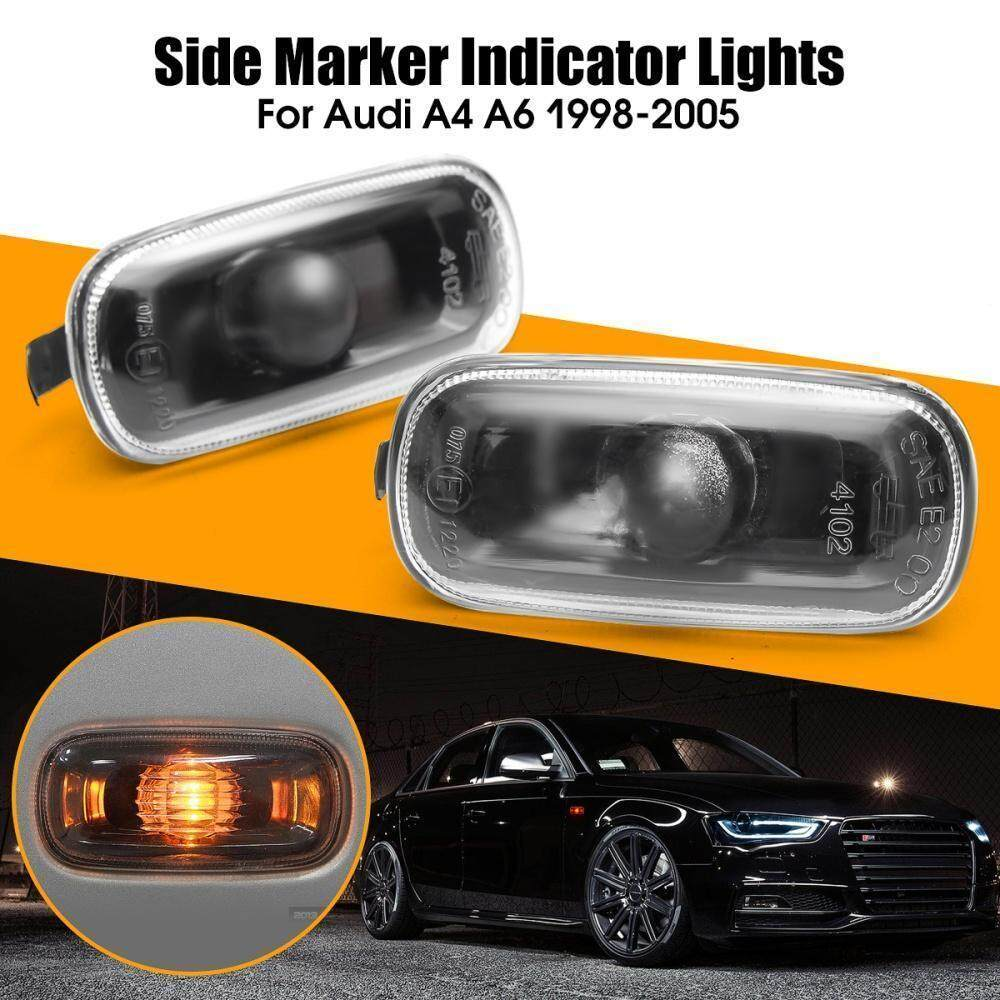 Pair Of Side Indicator Marker Lights Smoke For AUDI A4 98-05, A6 98-05  8E949127