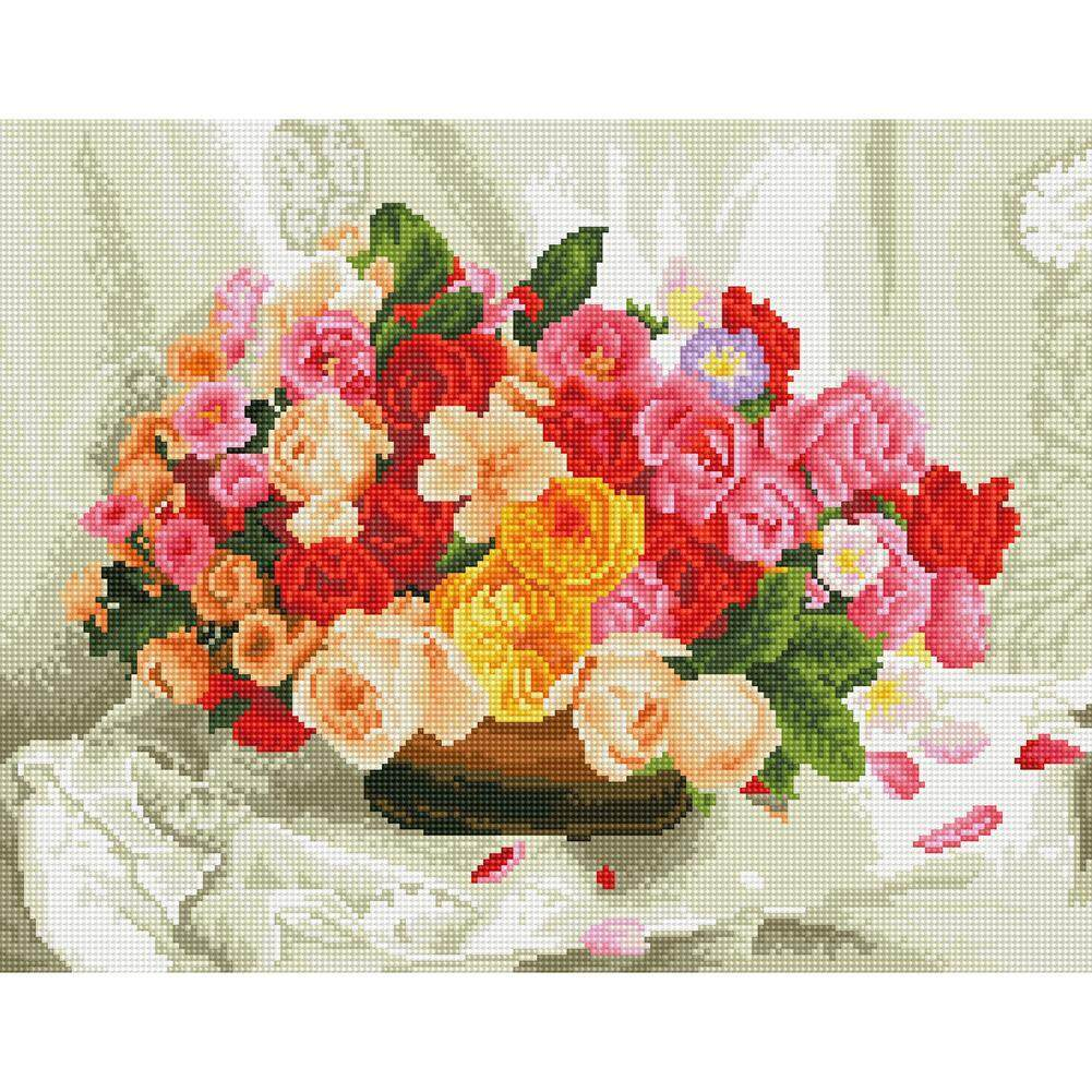Diamond Painting 5D DIY Full Drill Flower Pot Embroidery Cross Stitch Kits Decor