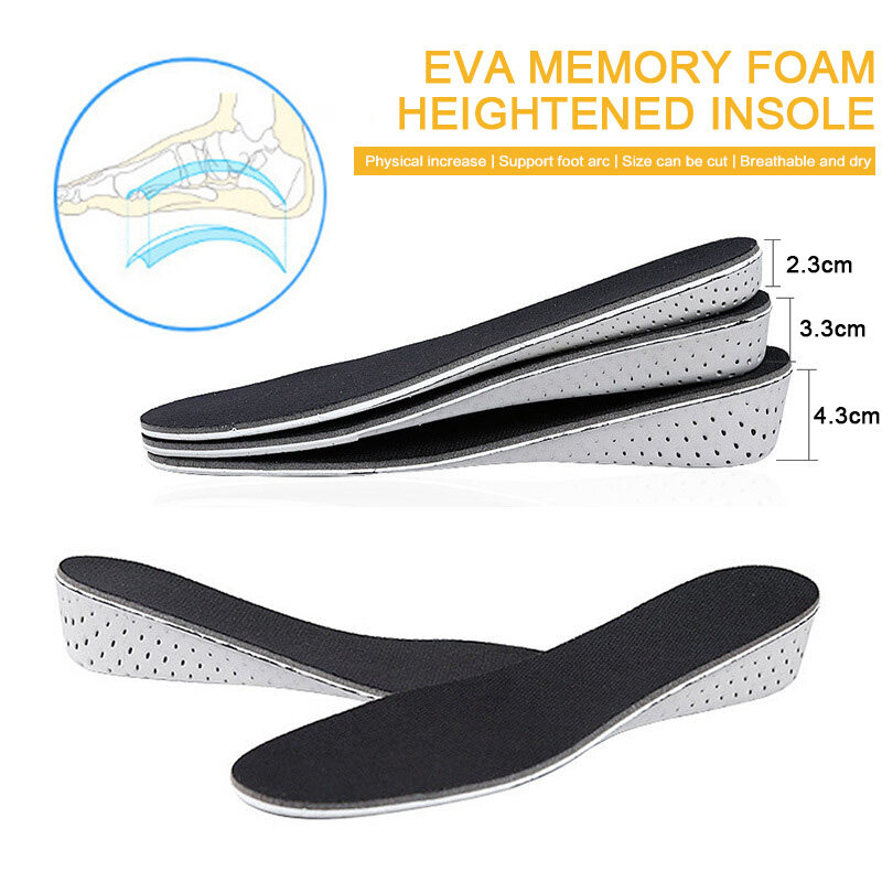 Insole Heel Lift Insert Shoe Pad Height Increase Cushion Elevator Taller·cushion