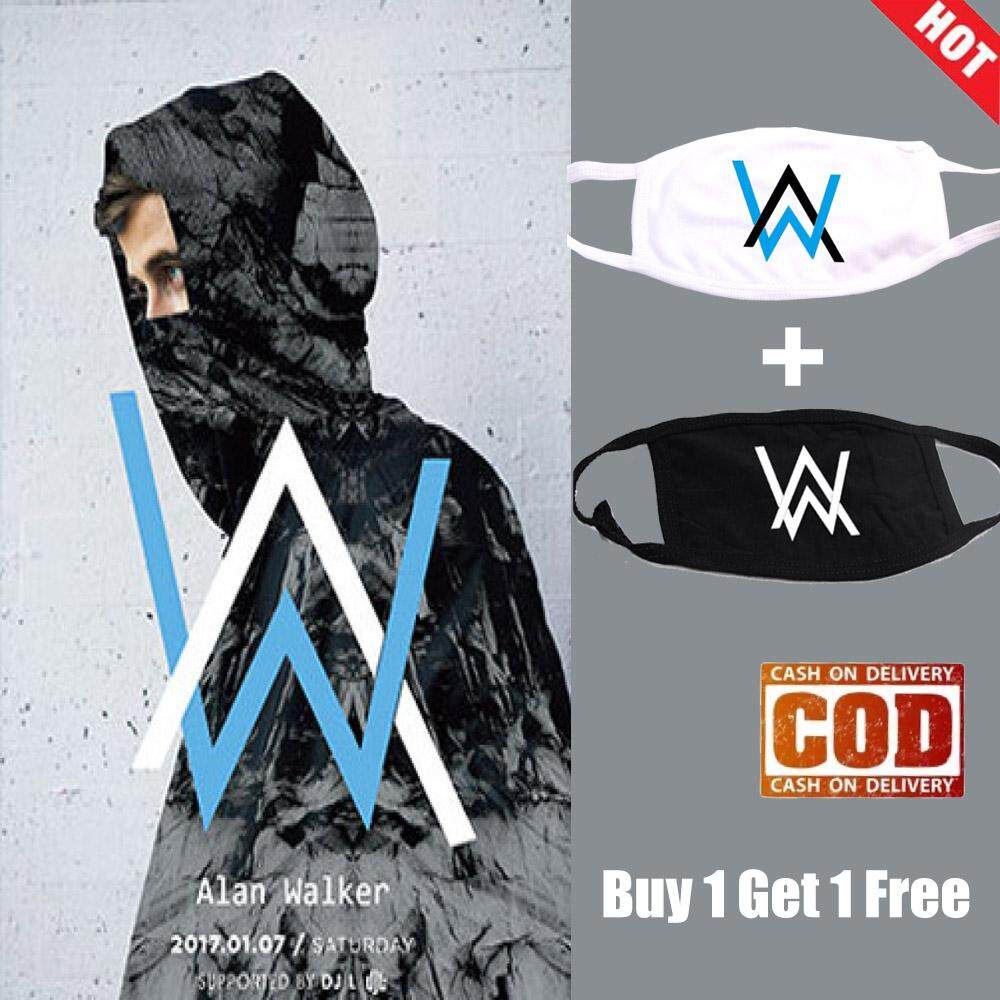 da65967e4 [BUY 1 GET 1 FREE] Alan Walker Masks Allen Walker DJ Around Faded with the  Same Paragraph Cotton Mask to Keep Warm Men and Women Spring and Autumn
