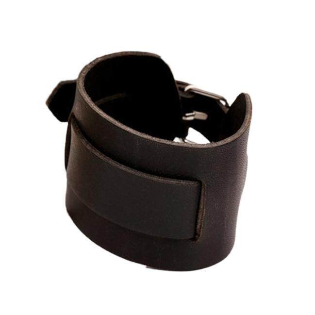 Punk Cool Wide Brown Leather Belt Bracelet Cuff Wristband Bangle for Men