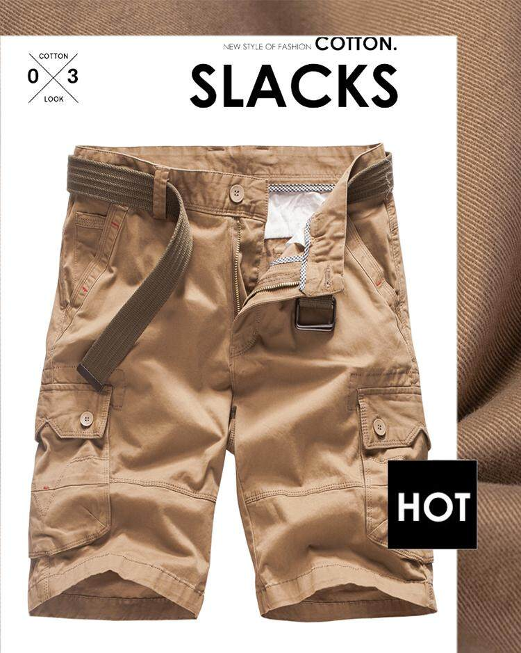 0c365c9219 Specifications of New 2019 Multi-pocket Men Cargo Shorts Casual Loose Short  Pants Solid Camo Military Summer Knee Length Plus Size Shorts