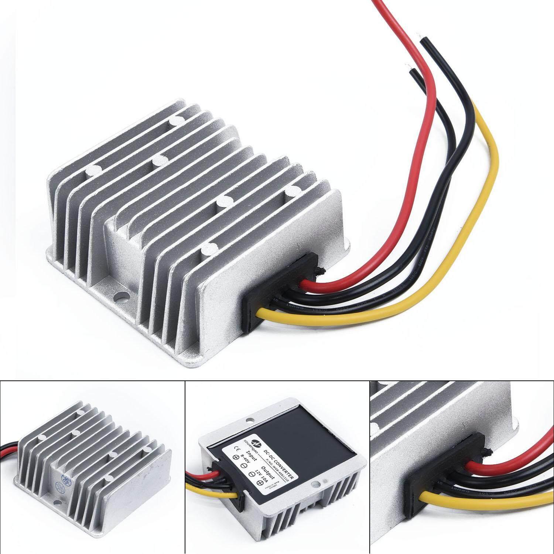 Unnicoco DC Voltage Stabilizer 8-40V to 12V 10A 120W Power Supply Regulator  Waterproof