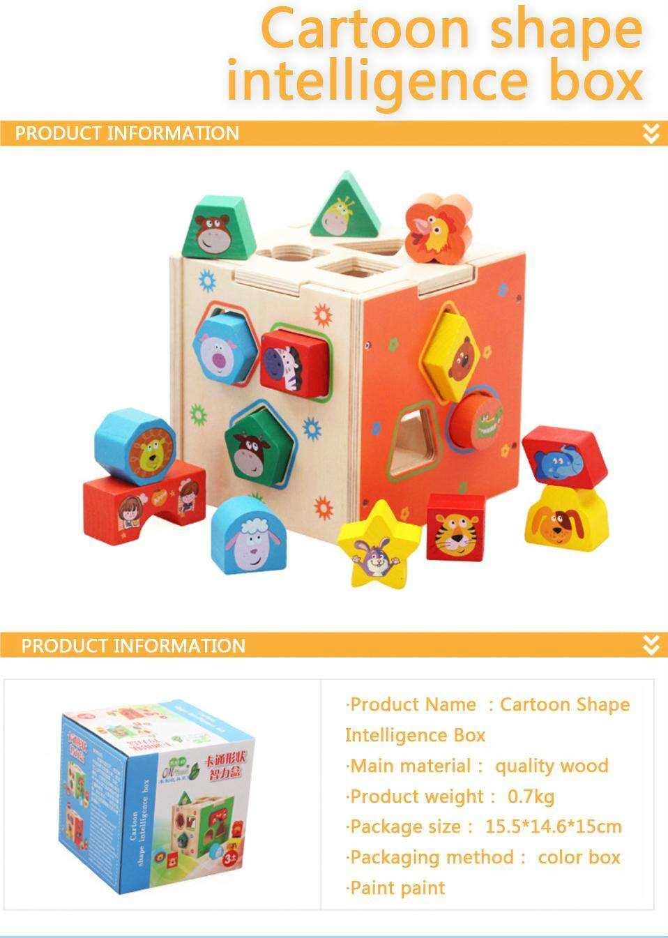 Geometric Shape Wooden Montessori Educational Toy Pairing Blocks Cartoon Box Preschool Toys For Toddler Phoohi Lazada Singapore