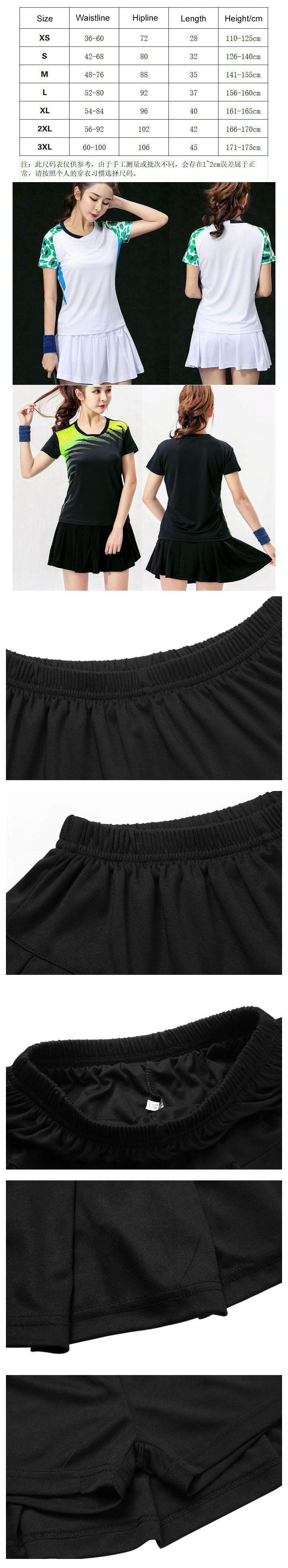 New Women Skirts Tennis Skirt all-match Sports Culottes Breathable Running  Badminton Golf Lined Short Skirt Pleated Skirts