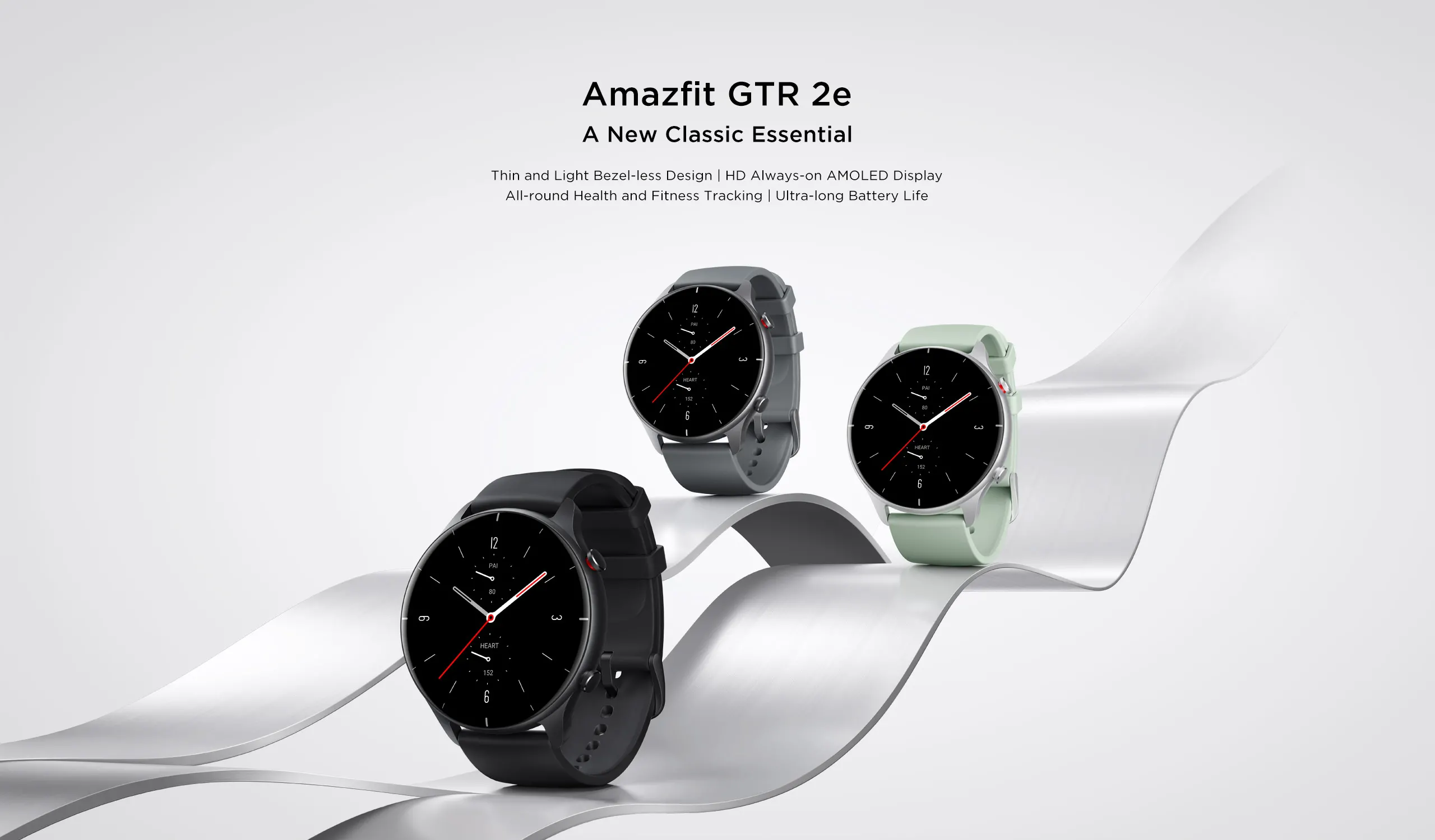 Amazfit GTR 2e Smartwatch with 24H Heart Rate, Sleep, Stress and SpO2 Monitor, Activity Tracker with 90 Sports Modes, 24 Day Battery Life, Black Price in Pakistan