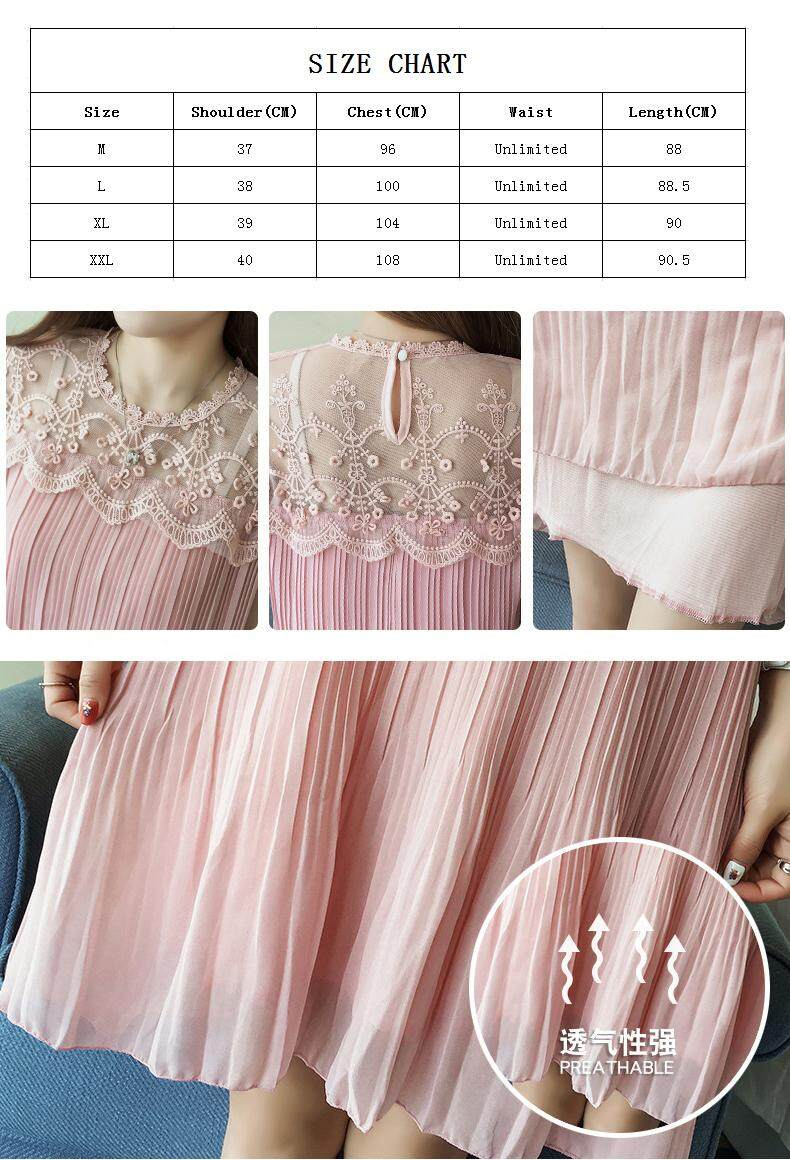 97ce2e2c7c New Style Slim Loose Breathable Pleated Chiffon Maternity Clothes ...