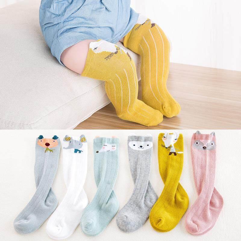 Two 1-3 Newborn Toddler Knee high Sock Baby Girl Boy Socks Anti Slip Cute Cartoon 2019 Leg Warmers for Newborns Infant Warm Long Sock