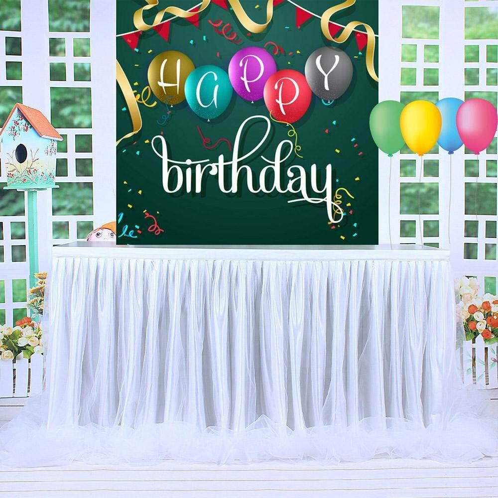 BIG 6ft Wedding Tulle Tutu Table Skirt Party Birthday Festive Baby Shower Decor