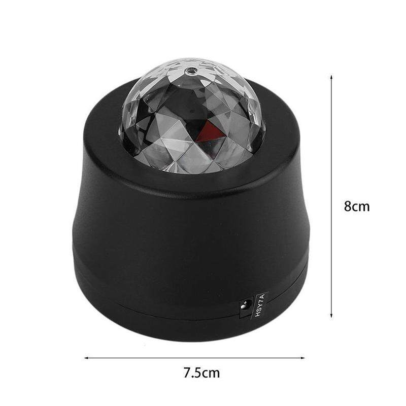 Car Disco DJ Stage LED RGB Crystal Ball Party Lamp Light For Civic Xmas Party