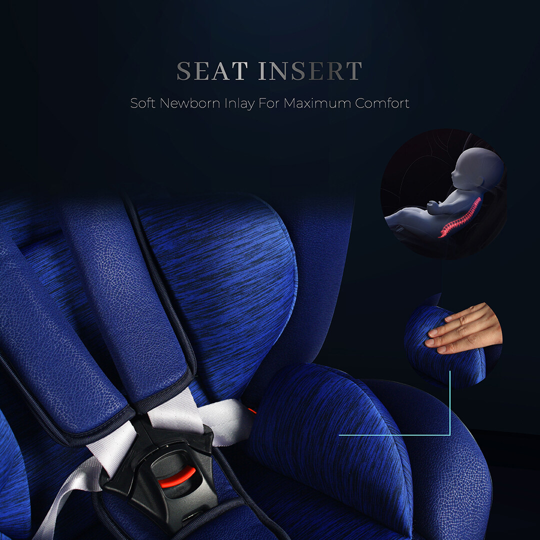 Sweet Heart Paris Group 0/1/2/3 CSQ5 PLUS ISOFIX Car Seat 360 SWIVEL Rotation ECE R44/04 Certified (Ruby Red)