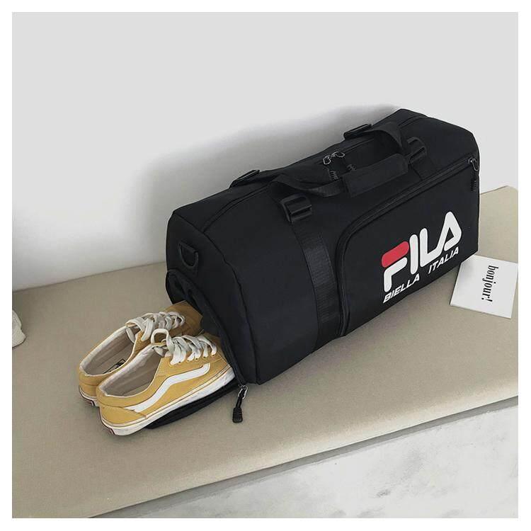 e74fd5464aff 2019 Hot FILA_Bag Waterproof Men Sports Gym Bags Outdoor Training Yoga  Fitness Shoulder Bag Women Travel Handbag Gymnastics with Shoes Space