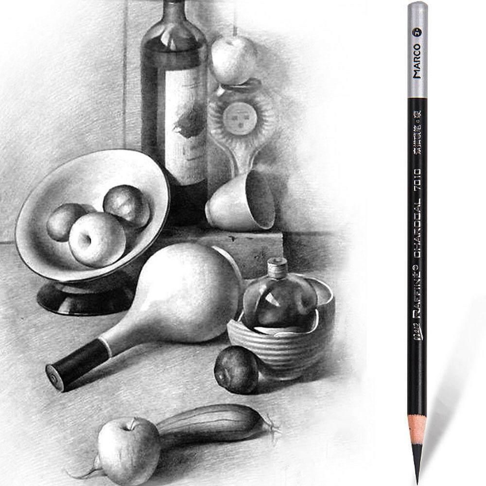 1 Lembut Bebas Racun Aman Coklat Putih Pensil Sketsa Pensil Lukis Perlengkapan Sekolah Gambar