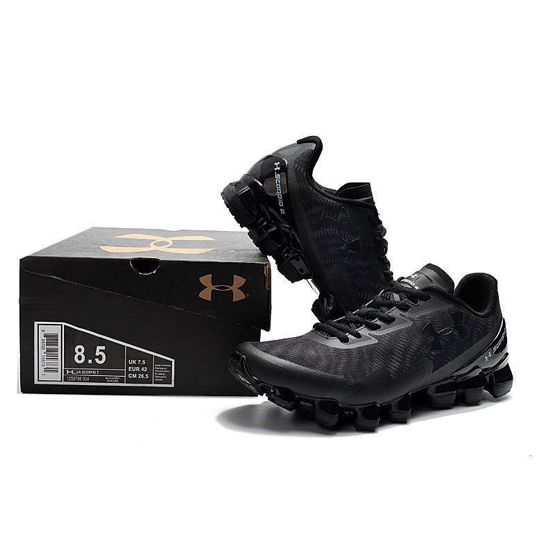 info for 2d328 9cc0f New Under Armour Scorpio 2 Black Out Mens Outdoor Sport Shoes Breathable  40-45 Sneakers