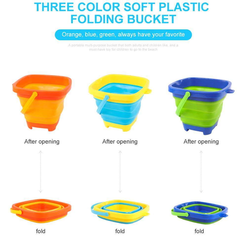 Beach/sand Toys Toys & Hobbies Portable Multifunctional Beach Bucket 2.5l Toy For Kids Summer Party Playing