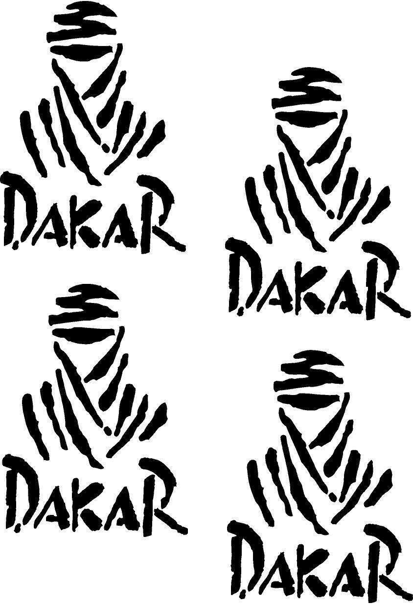 4pcsset Paris Dakar Rallye Sticker Grafikaufkleber Farben Auswahl
